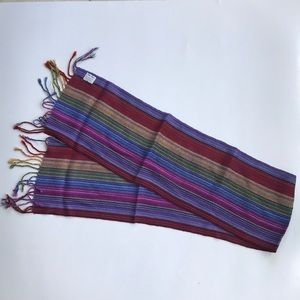 NEW soft and colorful striped alpaca wool scarf